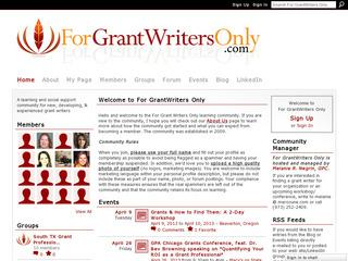 For Grant Writers only