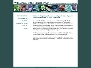 William M. Dingfelder, PhD - Development Consultant - Grant Writer